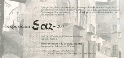 Exposición de Antonio Saz Julián